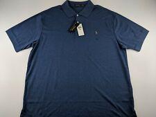 NEW Polo Ralph Lauren Classic Men 3XB 3XL Big Navy Blue Heather Polo Shirt Soft