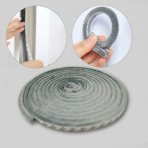 9mm Width Brush Seal Seal Brush Door Window Self-adhesive Door Brush Seal^RC10