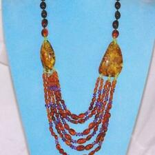 Baltic Multi Amber, Amethyst and Peridot Bead Necklace