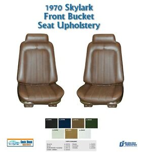 1970 Skylark Custom/GS Bucket Seat Upholstery in Your Choice of Factory Color