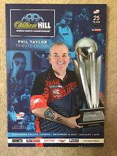 William Hilll World Darts Championship Programme
