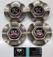 Genuine Nissan OEM R34 Skyline GTR wheel centre caps x4 Brand new full set RB26