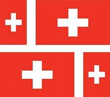 Set of 4x sticker vinyl car bumper decal outdoor swiss world flag switzerland