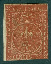 ITALY STATES : 1852. Sassone. Mint. 1978 SPA Certificate. Catalog €15,000.00.