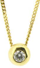 18 Carat Yellow Gold VVS1 Fine Diamond Necklaces & Pendants