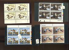Nice Lot of Federal Duck Mint Plate Blocks Fv $600+ (Stock #Rw Lot 392)