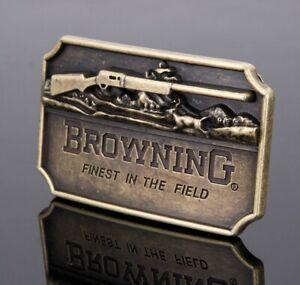 BROWNING RIFLE .FIELD SPORT/ BIKER STYLE  BELT BUCKLE