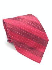 $135 EAGLE Mens WHITE RED SILK CHECK  DOT STRIPE NECKTIE CLASSIC NECK TIE 60x3.5