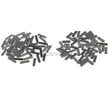 100 Stück Bohrung Doppel Barrel Kupfer Klemm Hülsen- 1 mm & 0.8 mm