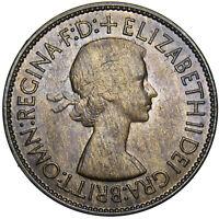 1953 PENNY - ELIZABETH II BRITISH BRONZE COIN - SUPERB