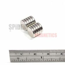 10 AIMANTS 10x2 mm néodyme forte ROUND CRAFT aimant disque 10 mm Dia x 2 mm