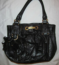JUICY COUTURE  soft leather hobo shoulder baquette tassel bag