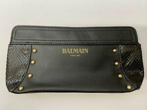 Authentic Pierre Balmain Makeup Bag Vintage Style Designer Mini Clutch Pouch