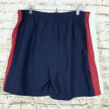 C&B Croft & Barrow Men's Size L Swim Trunks Board Shorts Blue White Red Pockets