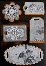 White Scrapbooking Chipboard Accents