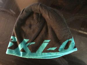 Ski-Doo Black & Teal Mircofleece Chapeau Reversible Beanie Cap, 4475400074