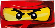 LEGO NINJAGO EYES BEACH BATH TOWEL KIDS CHARACTER GREAT FOR SWIMMING & HOLIDAY