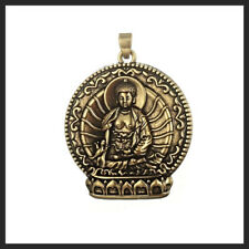 Antique Style Bronze Plated Single Sided Buddhism Buddha Charms Pendant