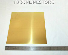 "Yellow Brass Sheet 22ga 12"" x 12"" 0.64mm Thick"