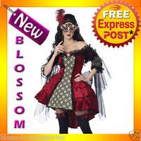 C794 Sexy Mysterious Masquerade Renaissance Adult Halloween Fancy Dress Costume