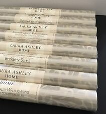 Laura Ashley Berkeley Scroll Pewter Wallpaper Rolls Price Pr Roll - 10 Available