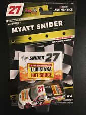 Myatt Snider 1/64 #27 Louisiana Hot Sauce Truck 2019 Nascar Authentics Wave 11