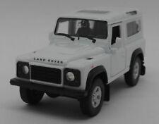 Land Rover Defender - White - Kinsmart Pull Back & Go Diecast Metal Model Car