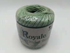 New J&P Royale Fashion Crochet Thread size 3 cotton 150 yards green discontinued