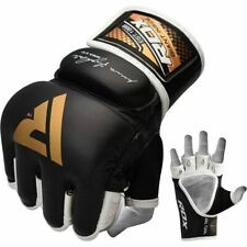 RDX T2 Durable Resilient Cowhide Leather Shell Shock Boxing MMA Grappling Gloves