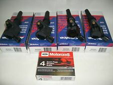 98-2011 CROWN VIC MARQUIS TOWN CAR 4 AC DELCO COIL & 4 MOTORCRAFT PLUGS SP493
