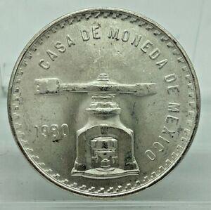 """1980 Mexico Una Onza • High """"O"""" • Casa De Moneda • One Ounce Silver Coin"""