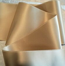 "1-1/2"" WIDE SWISS DOUBLE FACE SATIN RIBBON- CHAMPAGNE BEIGE  - BY THE YARD"