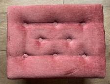 vintage velvet footstool