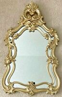 "Vintage Burwood Ornate Gold Mirror Hollywood Regency  42"" x 24""."