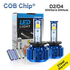 2X60W 6000LM D2C D2R D2S D4C D4S CREE COB Chip LED Headlight Kit 3K 6K 10K Bulbs