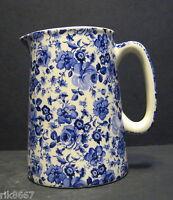 Heron Cross Pottery Small Blue Flower Chintz English 1/2 Pint Milk Jug