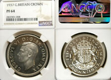 Gt. Britain 1937 Crown, Beauty, NGC Prf 64 PQ, Gem Proof, Rare Grade, 15k struck