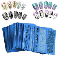 48 Sheets Nail Art Water Transfer Decals Stickers Lace Manicure Decoration DIY