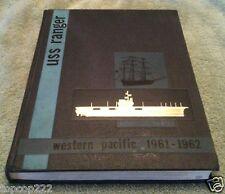 1961-1962 USS RANGER CV-61 U.S NAVY ORIGINAL CRUISE BOOK.