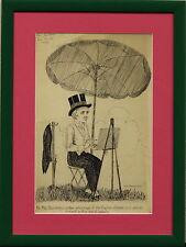 Mr Max Beerbohm Original Pen & Ink Drawing by Geo Beaumont