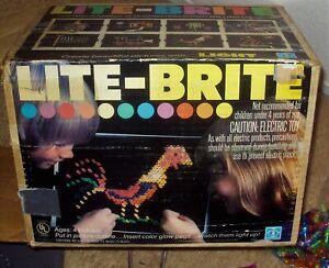 LITE BRITE Classic 1978 HASBRO Creative Toy BOZO THE CLOWN Sheets Pegs LITEBRITE