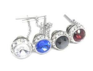 SWARVORSKI CRYSTAL TIE TACK VARIETY PACK  SET OF 4