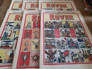 6 ROVER COMICS 1950
