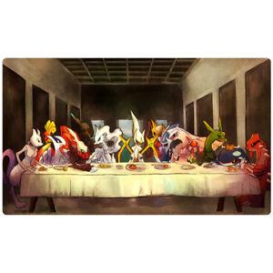 FREE SHIPPING Custom Pokemon Playmat Last Supper Pokemon Mewtwo Arceus Mat