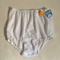NWT Vintage Toby-Gale Nylon Satinette White Panties w/Wide Gusset Size 7