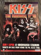KISS FAREWELL TOUR Australia POSTER  Gene Simmons Paul Stanley Ace Frehley