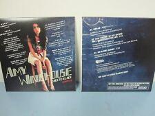AMY WINEHOUSE 2006 BACK TO BLACK PROMOTIONAL 3 TRACK CD SAMPLER New Old Stock