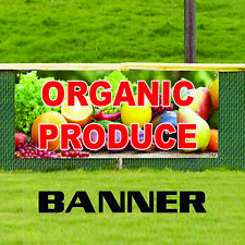 Organic Produce Farm Fresh Unique Novelty Indoor Outdoor Vinyl Banner Sign