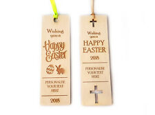 EASTER GIFT - Wooden Bookmark Personalised, Birthday, Anniversary, Special Event