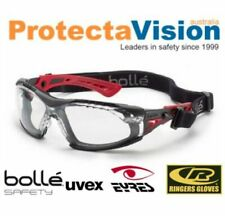 NEW Bolle Safety Rush Plus Seal Safety Glasses Anti-Fog Clear Lens